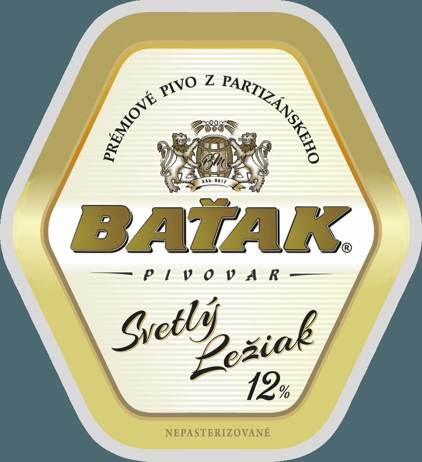 etiketa Svetlý ležiak 12% - Pivovar BAŤAK