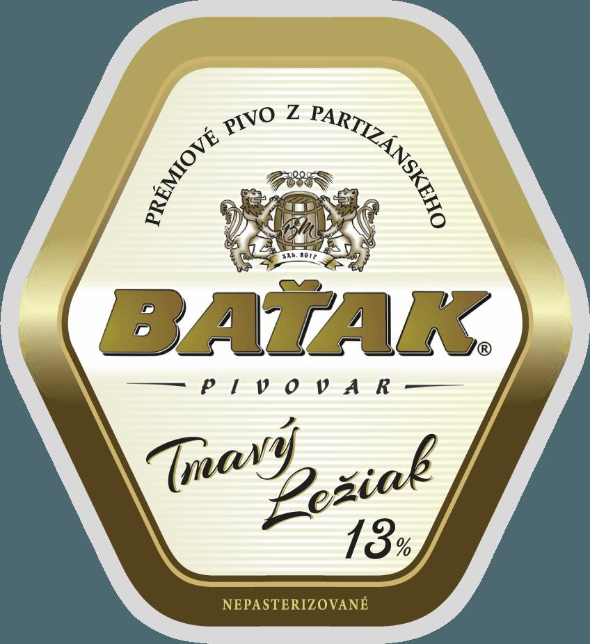 etiketa Tmavý ležiak 13% - Pivovar BAŤAK