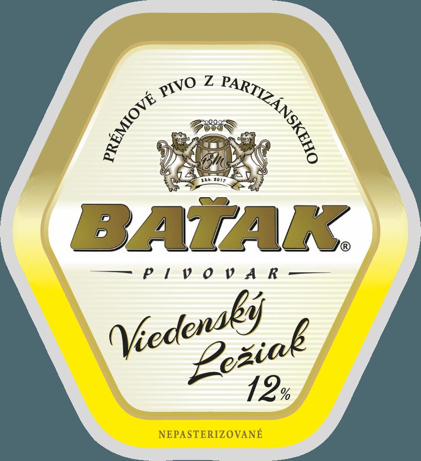etiketa Viedenský ležiak 12% - Pivovar BAŤAK