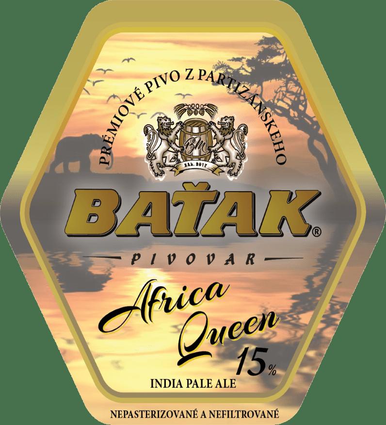 etiketa Africa Queen 15% - Pivovar BAŤAK