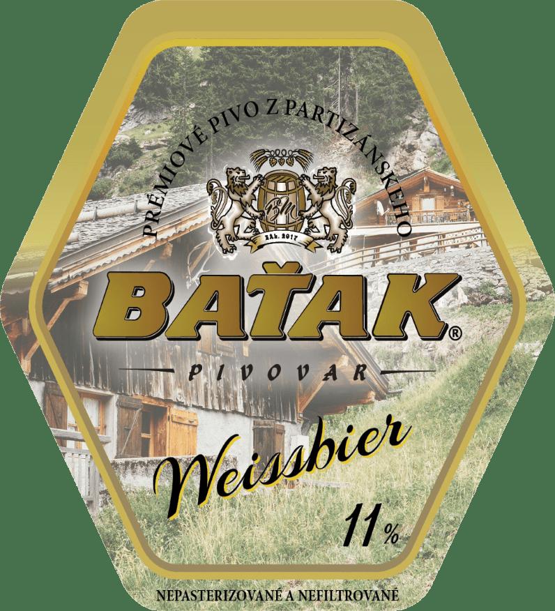 etiketa Weissbier 11% - Pivovar BAŤAK